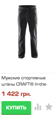 Мужские спортивные штаны CRAFT In-the-zone
