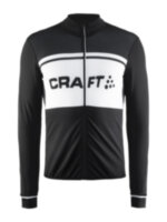 Мужская велокуртка CRAFT® Classic Thermal Jersey Black/White