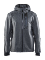 Мужская велокуртка CRAFT® Ride Rain Dark Grey Melange/Black