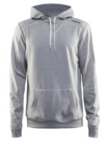 Мужская толстовка CRAFT® In-the-zone Hood Grey Melange/White/Grey Melange