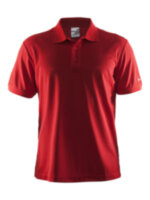 Мужская футболка CRAFT® Polo Pique Classic Bright Red