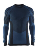 Мужская терморубашка CRAFT® Active Intensity Crewneck Black/Sweden Blue